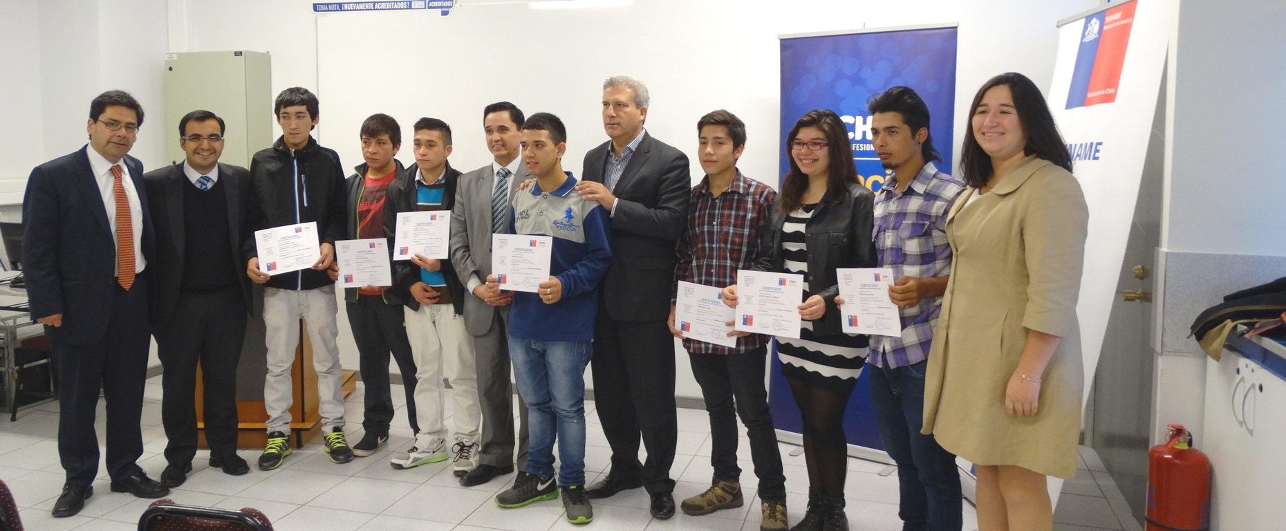Sence O´Higgins y Sename certifican a jóvenes de programa de ...