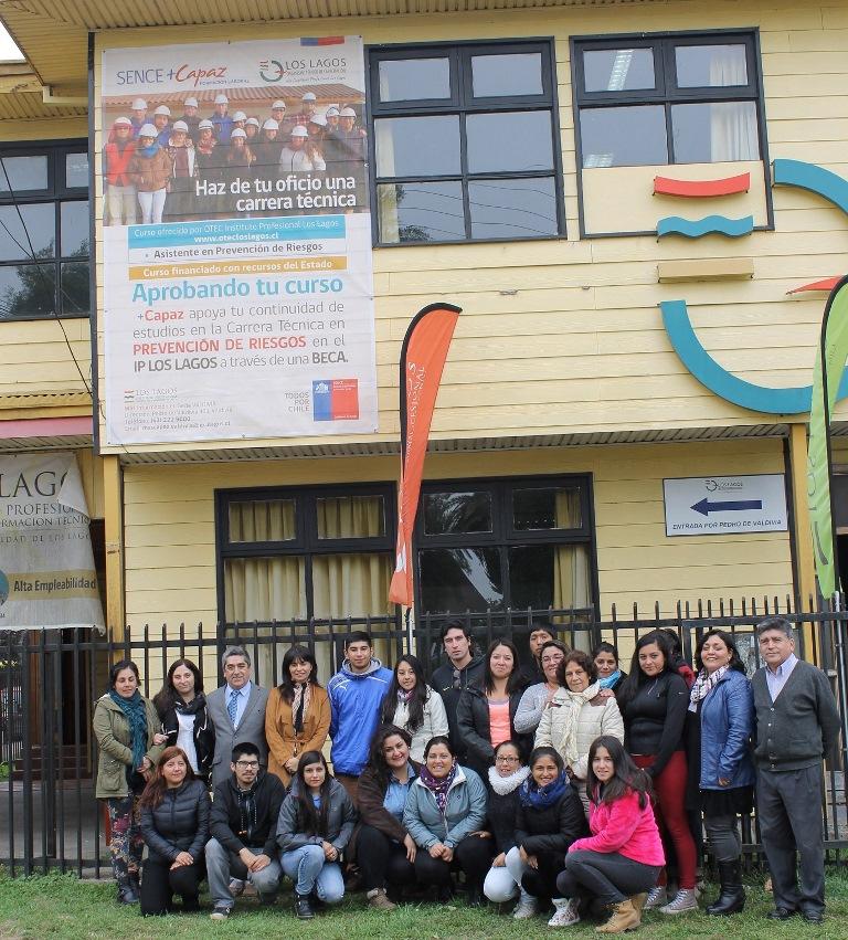 Asistente en prevención de riesgos, del programa +Capaz del Sence Los Ríos, es el curso que actualmente se está ejecutando en Valdivia, y para el cual se otorgaron 70
