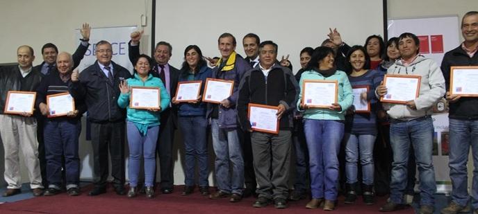 Los egresados/as se suman a los 280 agricultores/as beneficiados por medio de este convenio de Sence e Indap