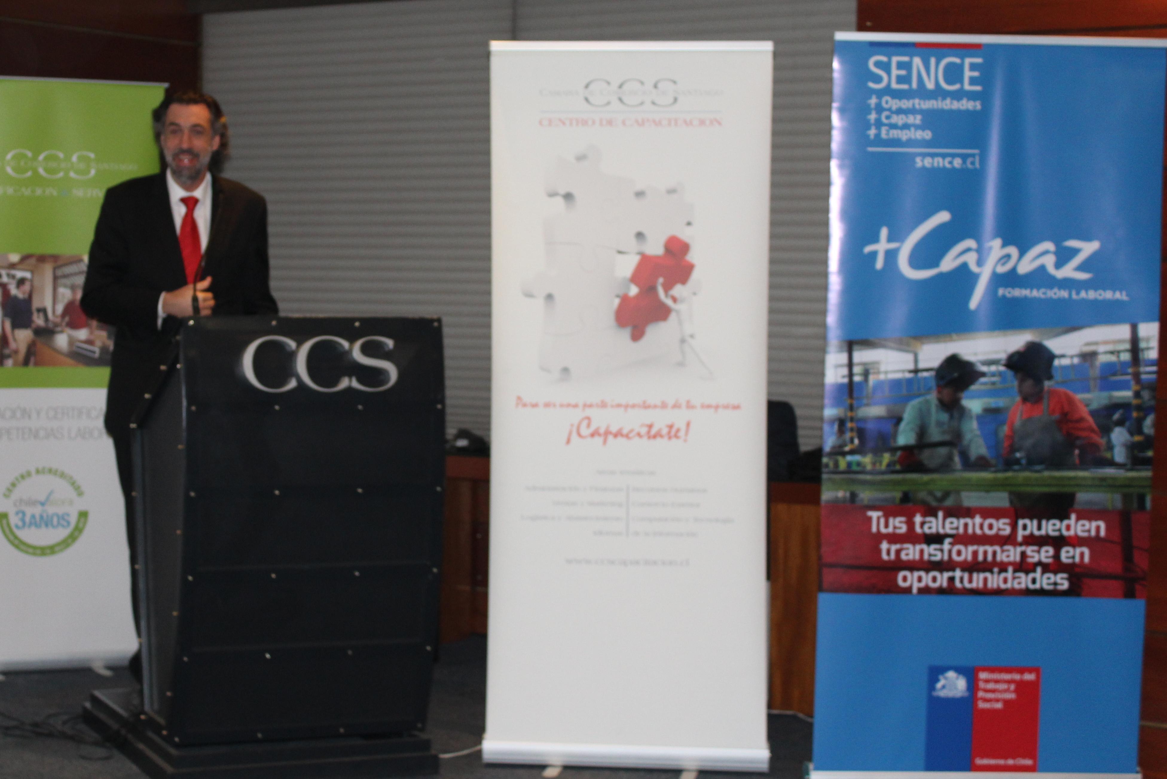 El director nacional del Sence hizo un llamado principalmente a las empresas a utilizar las herramientas y beneficios Sence, centrando su discurso en el trabajo tripartito que se realiza el Servicio Nacional de Capacitación y Empleo,  Chilevalora y las empresas.