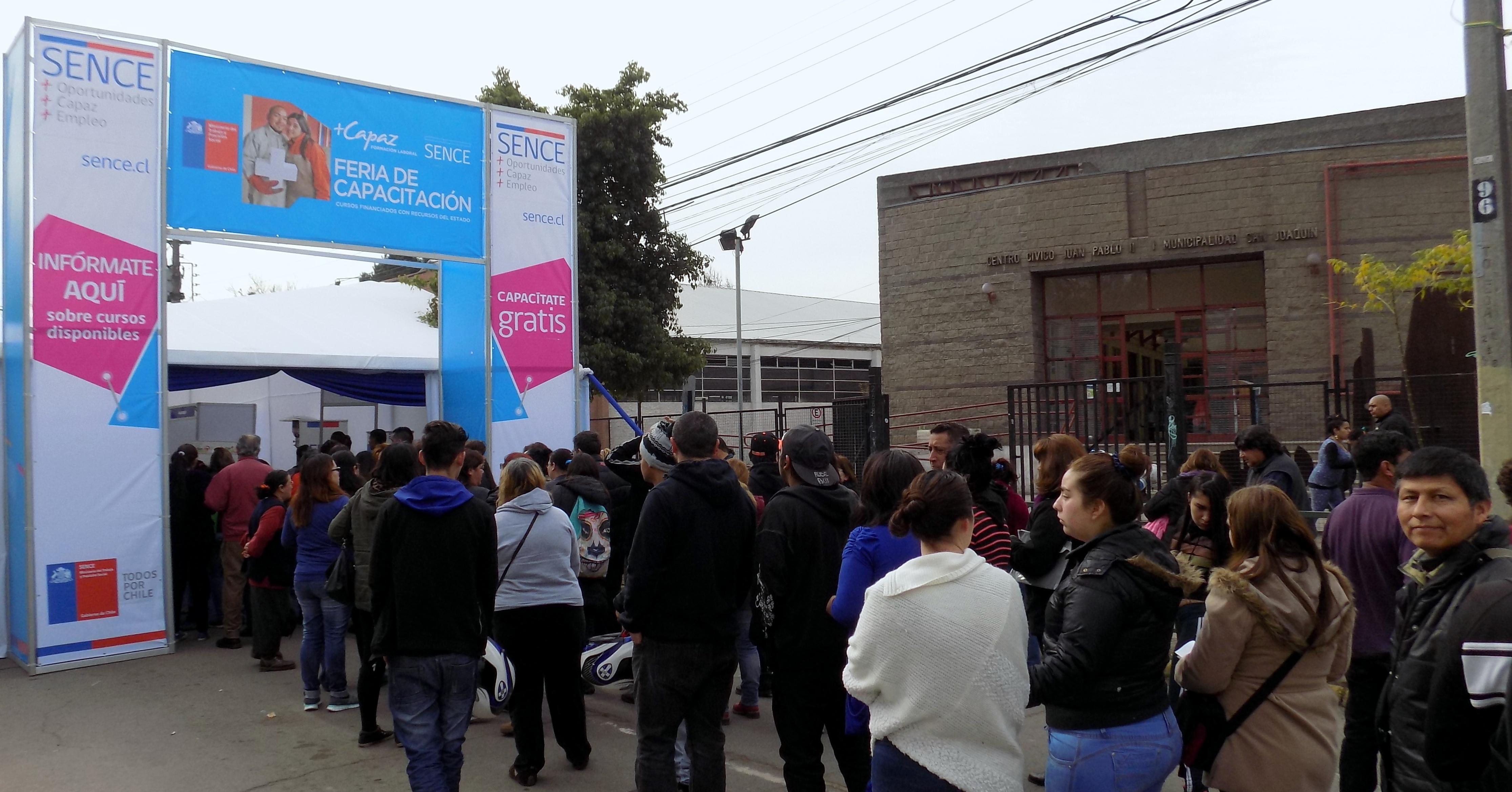 Las Ferias de Capacitación del Sence Metropolitano son totalmente gratuitas.